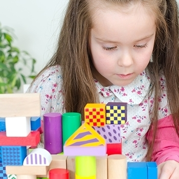 Little Girl in Play Therapy session