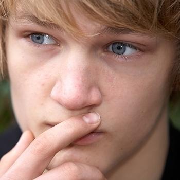 Worried teenage boy